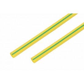 Термоусаживаемая трубка REXANT 15,0/7,5 мм, желто-зеленая, упаковка 50 шт. по 1 м