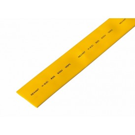 Термоусаживаемая трубка REXANT 25,0/12,5 мм, желтая, упаковка 10 шт. по 1 м