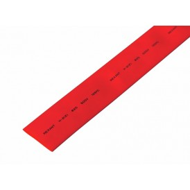 Термоусаживаемая трубка REXANT 25,0/12,5 мм, красная, упаковка 10 шт. по 1 м