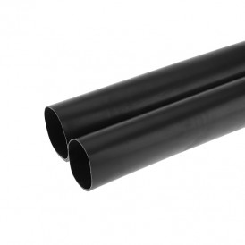 Термоусаживаемая трубка клеевая REXANT 70,0/12,0 мм, (6:1) черная, упаковка 2 шт. по 1 м