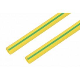 Термоусаживаемая трубка REXANT 35,0/17,5 мм, желто-зеленая, упаковка 10 шт. по 1 м