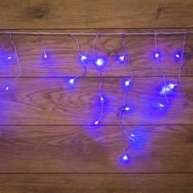 Гирлянда Айсикл (бахрома) светодиодный, 1,8 х 0,5 м, прозрачный провод, 230 В, диоды синие|255-013| NEON-NIGHT