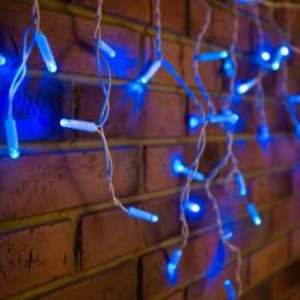 Гирлянда Айсикл (бахрома) светодиодный, 2,4 х 0,6 м, белый провод, 230 В, диоды синие, 88 LED NEON-NIGHT|255-033| NEON-NIGHT