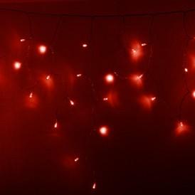 Гирлянда Айсикл (бахрома) светодиодный, 2,4 х 0,6 м, прозрачный провод, 230 В, диоды красные, 88 LED |255-052| NEON-NIGHT