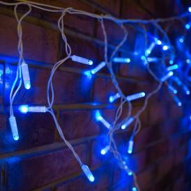 Гирлянда Айсикл (бахрома) светодиодный, 4,8 х 0,6 м, белый провод, 230 В, диоды синие, 152 LED  255-136-6  NEON-NIGHT