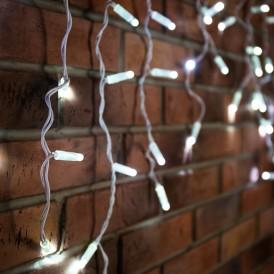 Гирлянда Айсикл (бахрома) светодиодный, 4,8 х 0,6 м, белый провод, 230 В, диоды белые, 176 LED  255-137  NEON-NIGHT