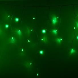 Гирлянда Айсикл (бахрома) светодиодный, 4,8 х 0,6 м, прозрачный провод, 230 В, диоды зеленые, 176 LED |255-144| NEON-NIGHT