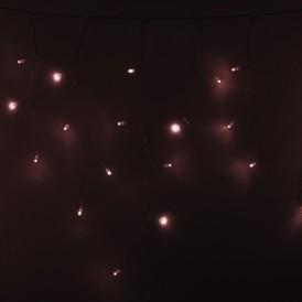 Гирлянда Айсикл (бахрома) светодиодный, 4,8 х 0,6 м, прозрачный провод, 230 В, цвет: Золото, 176 LED  255-147  NEON-NIGHT