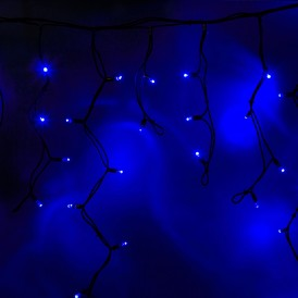 Гирлянда Айсикл (бахрома) светодиодный, 3,2 х 0,9 м, черный провод