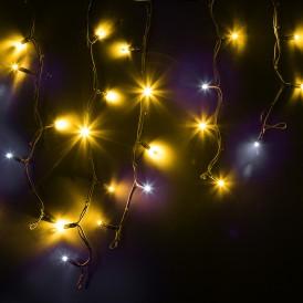 Гирлянда Айсикл (бахрома) светодиодный, 4,0 х 0,6 м, с эффектом мерцания, черный провод