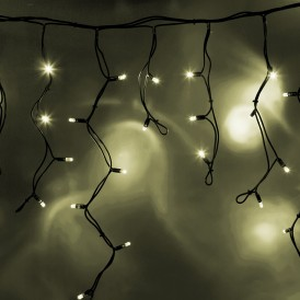 Гирлянда Айсикл (бахрома) светодиодный, 5,6 х 0,9 м, черный провод