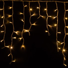 Гирлянда Айсикл (бахрома) светодиодный, 5,6 х 0,9 м, белый провод