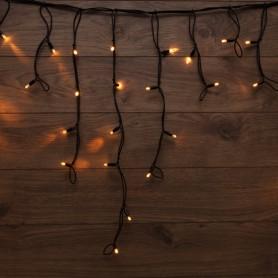 Гирлянда «Айсикл» («Бахрома») светодиодная 3,2х0,6 м, с эффектом мерцания, 88 LED, черный провод каучук, теплое белое свечение NEON-NIGHT