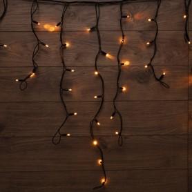 Гирлянда «Айсикл» («Бахрома») светодиодная 3,2х0,9 м, с эффектом мерцания, 120 LED, черный провод каучук, теплое белое свечение NEON-NIGHT