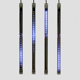 Сосулька светодиодная 50 см, 9,5V, двухсторонняя, 32х2 светодиодов, пластиковый корпус черного цвета, цвет светодиодов синий| 256-124 | NEON-NIGHT