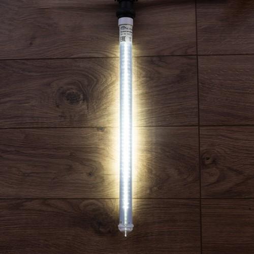 Сосулька светодиодная 50 см, 220V, e27, двухсторонняя, 48х2 диодов, цвет диодов белый | 256-162 | NEON-NIGHT