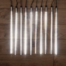 Гирлянда «Тающие сосульки» 24 В, комплект 10 шт. х 50 см, шаг 100 см, 600 LED, белый, соединяются