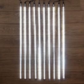 Гирлянда «Тающие сосульки» 24 В, комплект 10 шт. х 100 см, шаг 100 см, 900 LED, белый, соединяются, NEON-NIGHT