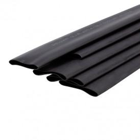 Термоусаживаемая трубка двухстенная клеевая 25,4/12,7 мм черная REXANT (уп. 5 шт. по 1 м)