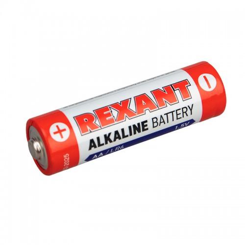 Алкалиновая батарейка AA/LR6 1,5 V 2 шт. блистер REXANT
