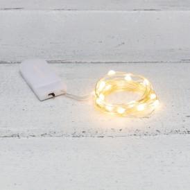 Гирлянда «Роса» с крупными каплями 2 м, 20 LED, теплое белое свечение, 2хCR2032 в комплекте NEON-NIGHT