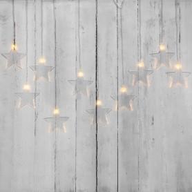 Гирлянда светодиодная «Звезды» 1,5х0,6 м, прозрачный провод, теплый белый свет свечения NEON-NIGHT