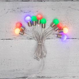Гирлянда светодиодная «Мини-лампочки» 1.5 м, 10 LED, прозрачный ПВХ, цвет свечения мультиколор, 2 х АА (батарейки не в комплекте) NEON-NIGHT