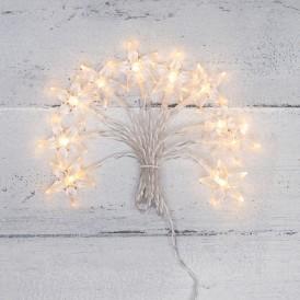 Гирлянда светодиодная «Звездочки» 1.5 м, 10 LED, прозрачный ПВХ, цвет свечения теплый белый, 2 х АА (батарейки не в комплекте) NEON-NIGHT