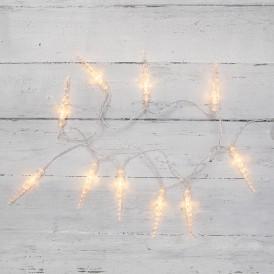 Гирлянда светодиодная «Сосульки» 1.5 м, 10 LED, прозрачный ПВХ, цвет свечения теплый белый, 2 х АА (батарейки не в комплекте) NEON-NIGHT