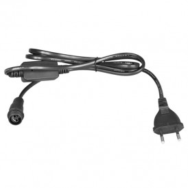 Комплект покдлючения уличных для гирлянд 230В / 4А, цвет провода: черный, IP65