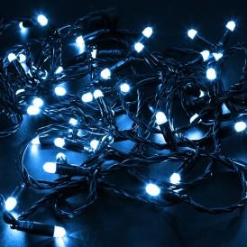 Гирлянда Нить 10м, с эффектом мерцания, черный ПВХ, 24В, цвет: Синий