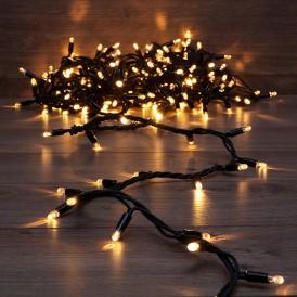 Гирлянда модульная «Дюраплей LED» 10 м, 200 LED, черный каучук, цвет свечения теплый белый NEON-NIGHT