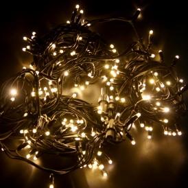 Гирлянда модульная «Дюраплей LED» 20 м, 200 LED, черный каучук, свечение теплое белое