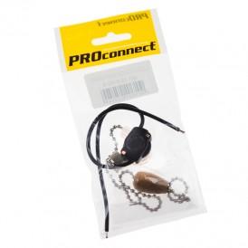 Выключатель для настенного светильника c проводом и деревянным наконечником «Silver» индивидуальная упаковка  1 шт. PROCONNECT