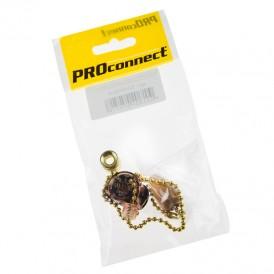 Выключатель для настенного светильника c  деревянным наконечником «Gold» индивидуальная упаковка  1 шт. PROCONNECT