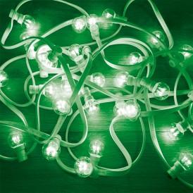 Гирлянда LED Galaxy Bulb String 10м, белый КАУЧУК, 30 ламп*6 LED ЗЕЛЕНЫЕ, влагостойкая IP65| 331-304| NEON-NIGHT