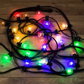 Гирлянда LED Galaxy Bulb String 10м, черный КАУЧУК, 30 ламп*6 LED МУЛЬТИ, влагостойкая IP65  331-329  NEON-NIGHT