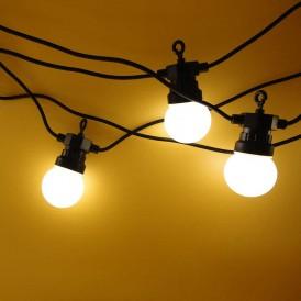 Уличная гирлянда «Лофт», черный каучук, 20 матовых ламп х 5 LED, влагостойкая IP44