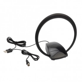 Антенна REXANT комнатная «Активная» с USB питанием, для цифрового телевидения DVB-T2, Ring-51