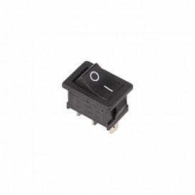 Выключатель клавишный 250V 6А (3с) ON-ON черный  Mini  REXANT