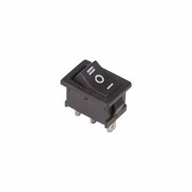 Выключатель клавишный 250V 6А (3с) ON-OFF-ON черный  с нейтралью  Mini  REXANT