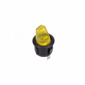 Выключатель клавишный круглый 250V 6А (3с) ON-OFF желтый  REXANT