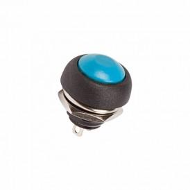 Выключатель-кнопка  250V 1А (2с) OFF-(ON)  Б/Фикс  синяя  Micro  REXANT