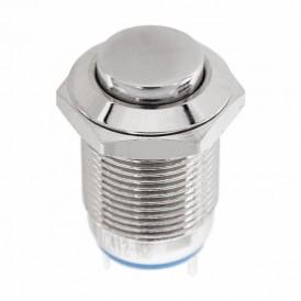 Кнопка  антивандальная Ø12  Б/Фикс (2с) (ON)-OFF выпуклая  REXANT