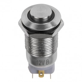 Кнопка  антивандальная Ø12 12В Б/Фикс (4с) (ON)-OFF красная  REXANT