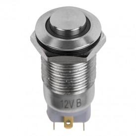 Кнопка  антивандальная Ø12 12В Фикс (2с) ON-OFF синяя  REXANT