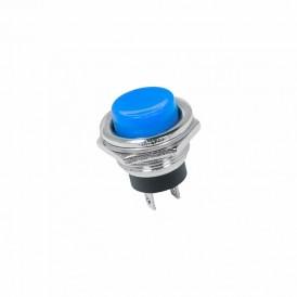 Выключатель-кнопка  металл 250V 2А (2с) (ON)-OFF  Ø16.2  синяя  REXANT
