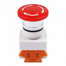 Выключатель-кнопка 10А Ø22 красная Аварийная остановка  REXANT