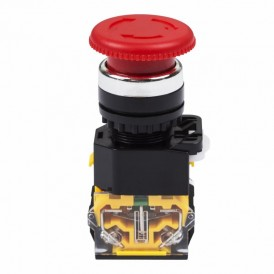 Выключатель-кнопка 10А Ø22 красная Грибок Аварийная  REXANT