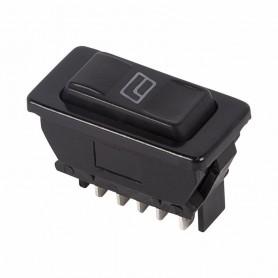 Выключатель (стеклоподъемника) клавишный 12V 20А (5с) (ON)-OFF-(ON)  черный  с подсветкой  REXANT